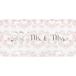 Wedding People Front License Plate (Personalized)