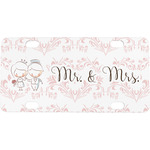 Wedding People Mini / Bicycle License Plate (4 Holes) (Personalized)