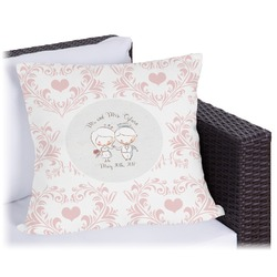 """Wedding People Outdoor Pillow - 26"""" (Personalized)"""