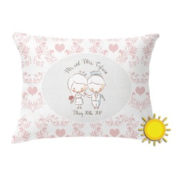 Wedding People Outdoor Throw Pillow (Rectangular) (Personalized)