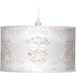 Wedding People Drum Pendant Lamp (Personalized)