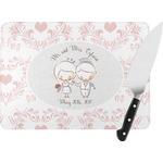 Wedding People Rectangular Glass Cutting Board (Personalized)