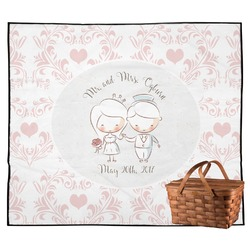 Wedding People Outdoor Picnic Blanket (Personalized)