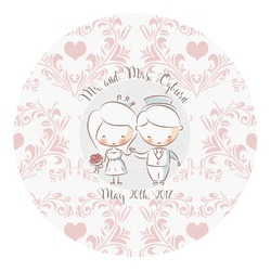 Wedding People Round Decal (Personalized)