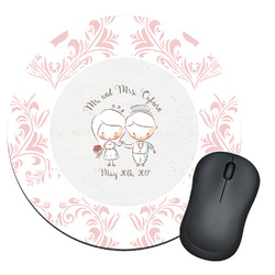 Wedding People Round Mouse Pad (Personalized)