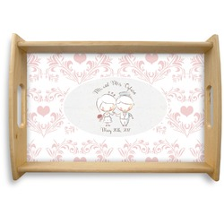 Wedding People Natural Wooden Tray (Personalized)