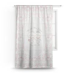 Wedding People Sheer Curtains (Personalized)