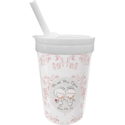 Wedding People Sippy Cup with Straw (Personalized)