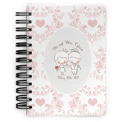 Wedding People Spiral Bound Notebook - 5x7 (Personalized)