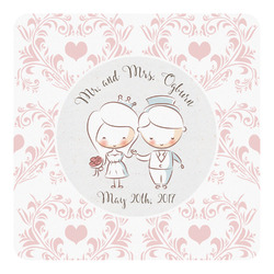 Wedding People Square Decal (Personalized)