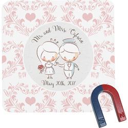 Wedding People Square Fridge Magnet (Personalized)
