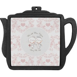 Wedding People Teapot Trivet (Personalized)