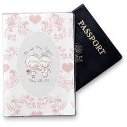 Wedding People Vinyl Passport Holder (Personalized)