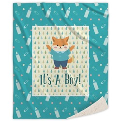 Baby Shower Sherpa Throw Blanket (Personalized)