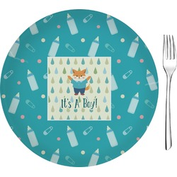 """Baby Shower 8"""" Glass Appetizer / Dessert Plates - Single or Set (Personalized)"""