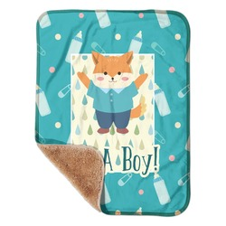 "Baby Shower Sherpa Baby Blanket 30"" x 40"" (Personalized)"