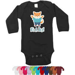 Baby Shower Long Sleeves Bodysuit - 12 Colors (Personalized)