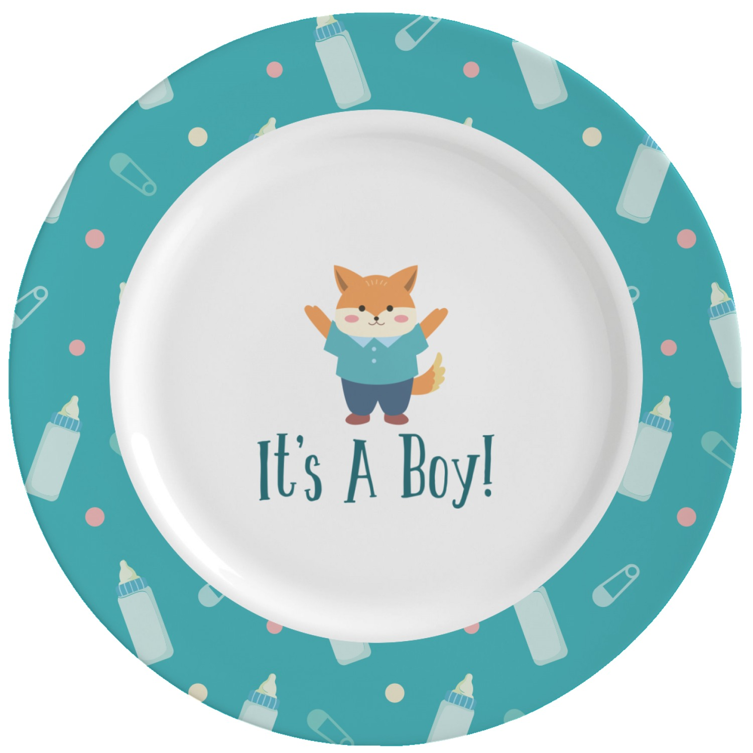 Baby Shower Plate: Baby Shower Ceramic Dinner Plates (Set Of 4) (Personalized