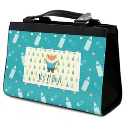 Baby Shower Classic Tote Purse w/ Leather Trim (Personalized)