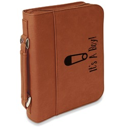 Baby Shower Leatherette Book / Bible Cover with Handle & Zipper (Personalized)