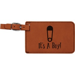 Baby Shower Leatherette Luggage Tag (Personalized)