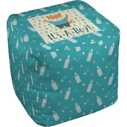 Baby Shower Cube Pouf Ottoman (Personalized)
