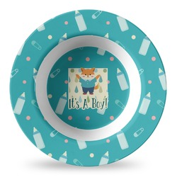 Baby Shower Plastic Bowl - Microwave Safe - Composite Polymer (Personalized)