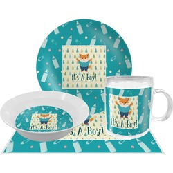 Baby Shower Dinner Set - 4 Pc (Personalized)