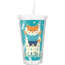 Baby Shower Double Wall Tumbler with Straw (Personalized)