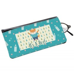 Baby Shower Genuine Leather Eyeglass Case (Personalized)