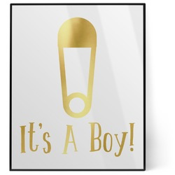 Baby Shower 8x10 Foil Wall Art - White (Personalized)