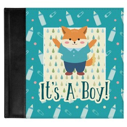 Baby Shower Genuine Leather Baby Memory Book (Personalized)