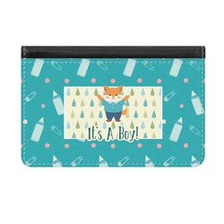 Baby Shower Genuine Leather ID & Card Wallet - Slim Style (Personalized)