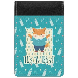 Baby Shower Genuine Leather Small Memo Pad (Personalized)