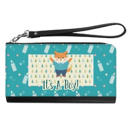 Baby Shower Genuine Leather Smartphone Wrist Wallet (Personalized)