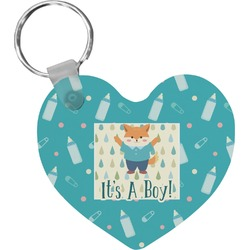 Baby Shower Heart Keychain (Personalized)