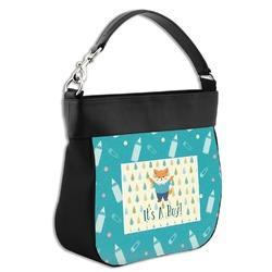Baby Shower Hobo Purse w/ Genuine Leather Trim (Personalized)