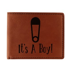 Baby Shower Leatherette Bifold Wallet (Personalized)
