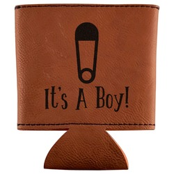 Baby Shower Leatherette Can Sleeve (Personalized)