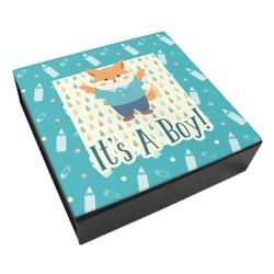 Baby Shower Leatherette Keepsake Box - 3 Sizes (Personalized)