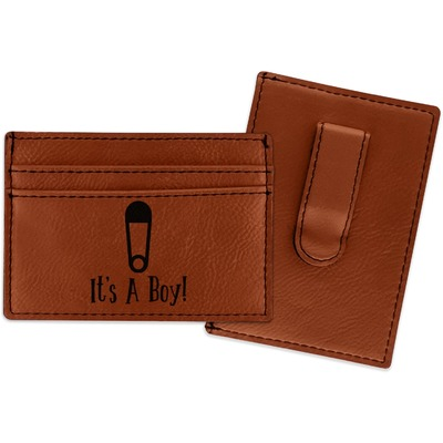 Baby Shower Leatherette Wallet with Money Clip (Personalized)