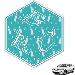Baby Shower Monogram Car Decal (Personalized)