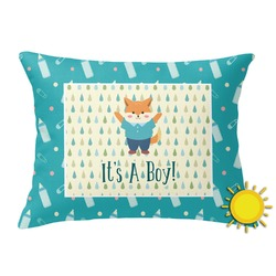 Baby Shower Outdoor Throw Pillow (Rectangular) (Personalized)