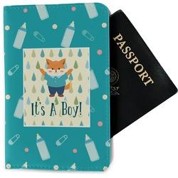 Baby Shower Passport Holder - Fabric (Personalized)
