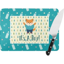 Baby Shower Rectangular Glass Cutting Board (Personalized)