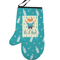Baby Shower Left Oven Mitt (Personalized)