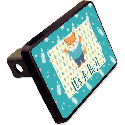 """Baby Shower Rectangular Trailer Hitch Cover - 2"""" (Personalized)"""