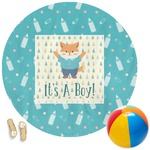 Baby Shower Round Beach Towel (Personalized)