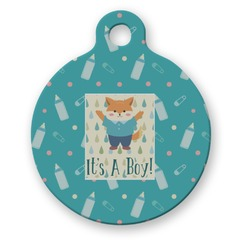 Baby Shower Round Pet Tag (Personalized)