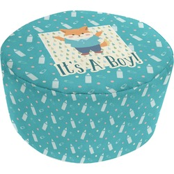 Baby Shower Round Pouf Ottoman (Personalized)